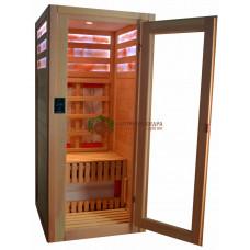 Одноместная ИК-кабина с соляными панелями в 3 ряда (керамика)