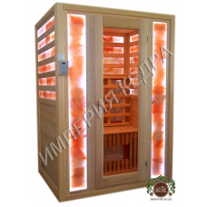 Двухместная ИК- кабина (керамика) со вставками из Гималайской розовой соли